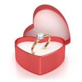 Caso con el anillo Fotografía de archivo libre de regalías