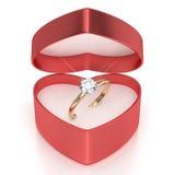 Caso con el anillo Imágenes de archivo libres de regalías