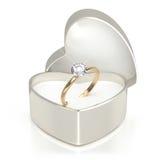 Caso con el anillo Imagen de archivo libre de regalías