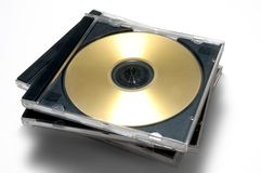 Caso de CD/DVD Fotos de Stock Royalty Free
