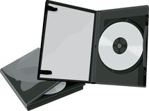 Caso de DVD e DVD Imagem de Stock Royalty Free