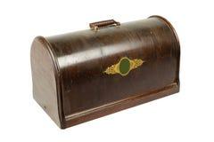 caso de madeira do vintage em um fundo branco Imagem de Stock Royalty Free