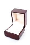 Caso del anillo de la joyería Foto de archivo libre de regalías