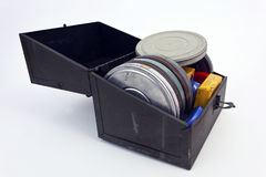 Caso dos filmes caseiros do vintage Foto de Stock