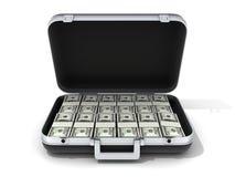 Caso e dinheiro Foto de Stock