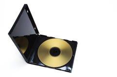 Caso e disco dourado imagens de stock royalty free