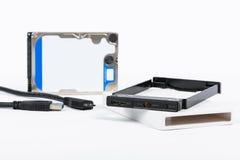 Caso externo del recinto de HDD Imágenes de archivo libres de regalías