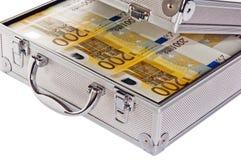 Caso metálico completamente do euro Fotografia de Stock