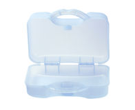 Caso plástico do armazenamento Fotografia de Stock Royalty Free