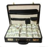 Caso por completo del dólar Foto de archivo libre de regalías