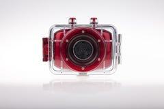 Caso subacuático de la prenda impermeable de la cámara de vídeo Imagen de archivo libre de regalías