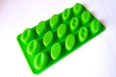 Caso verde claro de la hornada del silicón para los chocolates Fotografía de archivo libre de regalías