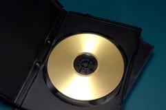 Caso y disco de oro imagen de archivo libre de regalías