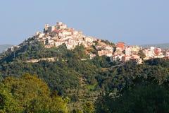 Casoli i Abruzzo, liten by i landet Arkivfoton