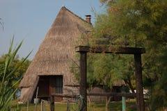 Casoni (huttes de pêche) dans Caorle Photo libre de droits
