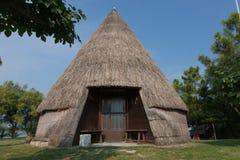 Casoni (huttes de pêche) dans Caorle Image stock