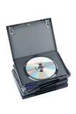 Casos de DVD Foto de archivo
