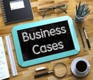 Casos do negócio - texto no quadro pequeno 3d Imagens de Stock Royalty Free