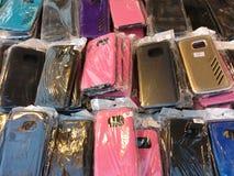 Casos do telefone celular Imagens de Stock