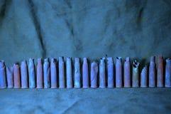Casos más viejos que se colocan en fila Foto de archivo libre de regalías