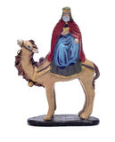 Caspar Magi riding a camel Stock Image