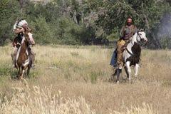 CASPER, WY__CIRCA JUILLET 2015__Soldiers et reconstitution d'Indiens à Casper, Wy vers en juillet 2015 Photo stock