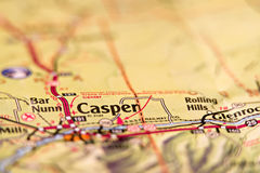 Casper wyoming usa area map royalty free stock image