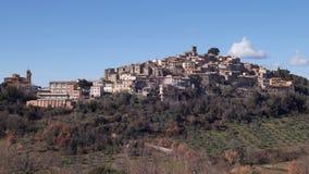 Casperia, pueblo en las colinas de la Sabine, Italia Fotos de archivo