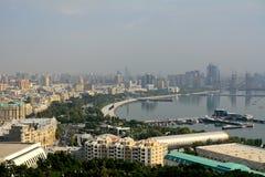 Caspian kust, Baku, Azerbajdzjan Royaltyfria Foton