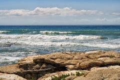 Caspian Sea. Storm on the Caspian Sea, outdoors, day royalty free stock photos