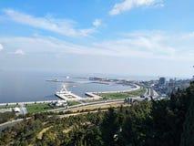 Caspian sea. And amazing park royalty free stock photo