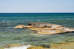 Caspian Sea in the summer. Stock Photo