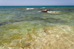 Caspian Sea in the summer. Stock Photography