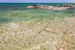 Caspian Sea in the summer. Stock Photo