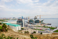 Caspian Waterfront mall under construction, Baku Royalty Free Stock Photo