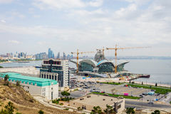 Caspian Waterfront mall under construction, Baku Royalty Free Stock Images