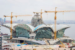 Caspian Waterfront mall under construction, Baku Stock Image