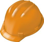 Casque antichoc de construction sur le blanc Photographie stock