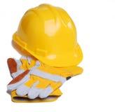 Casque antichoc et gants photo stock