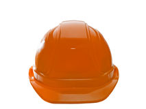 Casque antichoc orange Photo libre de droits