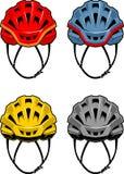 Casque coloré Front Set de cycliste Illustration Stock