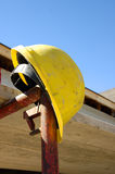 Casque de construction Photographie stock