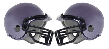 Casque de football six Photos stock