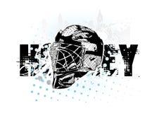 Casque de hockey sur glace Photos stock