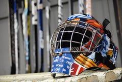 Casque de hockey sur glace image libre de droits