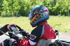Casque de Kart Photographie stock libre de droits
