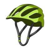 Casque de protection pour des cyclistes Protection pour les athlètes principaux Icône simple d'équipement de cycliste dans le vec Photo libre de droits