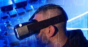Casque de réalité virtuelle, 360 degrés de visuel Photographie stock libre de droits