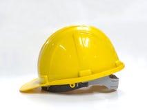 Casque de sécurité jaune Photos stock