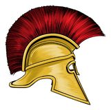 Casque de Spartan Ancient Greek Gladiator Warrior Photographie stock libre de droits
